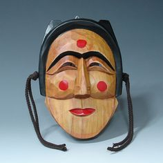Hand Carved Wood Korean Hahoe Mask Bune Hahoetal - Antique Alive
