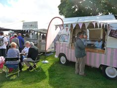 Florence our VW ice cream van at Ludlow Food Festival Sept 2013....x