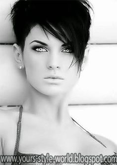 Check Out 20 Best Funky Short Hair. The color is used to increase your personality, complement your hair cut and making it unique to you. Get inspired with dramatic and daring 20 Best Funky Short Hair. Pictures Of Short Haircuts, Short Haircuts With Bangs, Long Face Hairstyles, Long Bangs, Short Hairstyles For Women, Edgy Haircuts, Edgy Hairstyles, Hairstyle Ideas, Pixie Haircuts