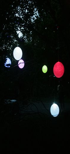 Mr. Light Single Solar Hanging Snowball with Color Changing LED