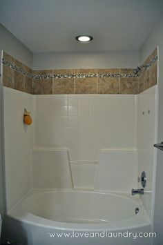 if you have tubshower surround this tile project is a quick and easy