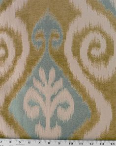 Another fabric sample for another glossy yellow dining room chair.
