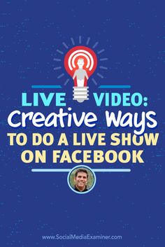 Do you broadcast live video?  Have you considered hosting a regular show on Facebook Live?  To discover creative ways to use Facebook Live, Michael Stelzner interviews @loumongello. Via @smexaminer.