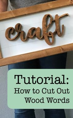 Tutorial: How to Cut Out Wood Words & Shapes Using a Scroll Saw and your Silhouette Cameo or Cricut Explore or Maker - http://cuttingforbusiness.com/2018/02/08/tutorial-cut-wood-words-shapes-using-scroll-saw/