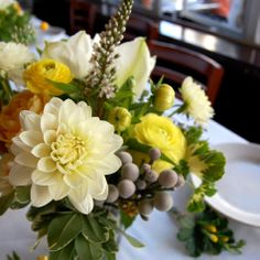 summer Dahlia arrangements from Design*Sponge