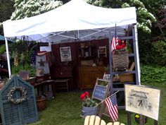 A booth at the Walker Homestead in Brookfield, MA.  My sister attended this bi-annual market in June 2011.  Lot of Primitives and quality dealers!