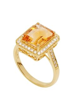 It's so hard to find a pretty citrine ring....