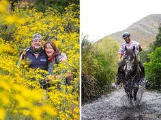 The team behind the trail: Esti and Eric (left) from Chokka Trail fame, handling the support vehicle and walking side. Hercules (right), who organises riding trails in this area and controls the horse component to the Camino.