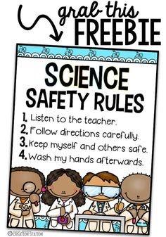 Kids Safety Science Safety Rules Freebie - MJCS - A Science Notebook is a resource that can help your learners organize their science resources throughout the year. Should use you a Science Notebook? 1st Grade Science, Kindergarten Science, Elementary Science, Teaching Science, Science Education, Science Activities, Science Experiments, Science Resources, Physical Science