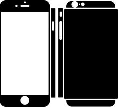Iphone 6 plus skin template for cutting or machining for Iphone 5 sticker template