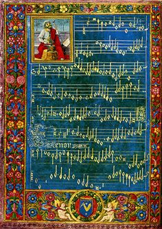 Vintage Illuminated Manuscript Print Bible King by Boniflower