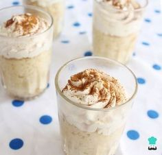 Learn how to make tres Leches Cake in a Glass with this delicious and easy recipe. Tres leches cake is a sponge which has been soaked in three different kinds of. Dessert Shooters, Dessert In A Jar, Dessert Cups, Dessert Tables, Mini Desserts, Wedding Desserts, Mexican Food Recipes, Dessert Recipes, Cake Shots