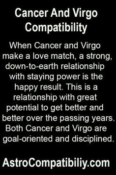 Dating a virgo man cancer woman 2