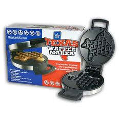 Texas Waffle Maker  Do you want to start making the best tasting waffles you could ever dream possible? Well, look no further because our Texas shaped waffle makers are here to make your dreams come true! It's true what they say about Texas: Everything is bigger and better in Texas.