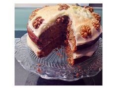 My carrot and walnut cake using mary berrys recipe minus the ginger