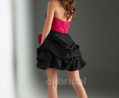 cheap short dresses/cocktail dress with strapless by okbridal, $82.99