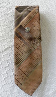 VINTAGE 1980s PIERRE VALERY Creation Tie/Vintage Textured Tie/Medium Width Dress Tie/Casual Tie/Suit n Tie Accessory 4 Men/Fall Colors Tie