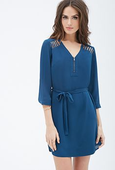 Ladder-Cutout Crepe Dress | FOREVER21 - 2000055542