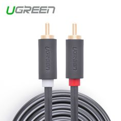 Ugreen 2rca untuk 2 rca pria pria av kabel berlapis emas rca audio kabel 2 m 3 m 5 m untuk home theater dvd tv Amplifer