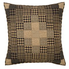 "Coal Creek Quilted Euro Pillow Sham 26"" x 26"""