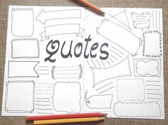 Quotes blank boxes bullet journal printable planner agenda journaling template layout page notebook with blank boxes where you can write the phrases and Bullet Journal Inspo, Bullet Journal List Ideas, Bullet Journal Design, Bullet Journal Quotes, Bullet Journal Ideas Pages, Journal Pages, Bullet Journal Layout Templates, Bullet Journals, Agenda Organizer