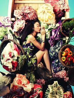 """One Dream"" | Model: Ji Hye Park, Photographer: Bosung Kim, Vogue Korea, June 2012"