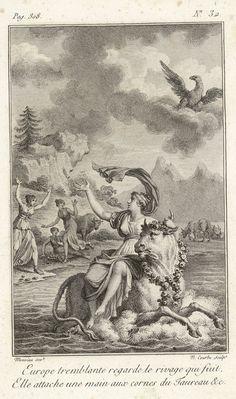 """Bibliothèque de Valenciennes, """"Europe enlevée par Zeus"""", Les Métamorphoses d'Ovide, éd. 1806"""