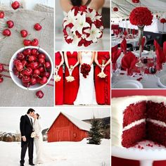 "Red and White wedding inspiration board from our ""Red and White Wedding Inspiration"" blog"