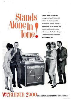 Wurlitzer: Stands Alone in Tone! Vintage Ephemera, Vintage Ads, Best Investments, Vintage Recipes, Latest Music, The Good Old Days, Vintage Photography, Live Music, Billboard