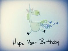 Hope Your Birthday Is As Magical As Unicorn Toots, snarky, humorous, funny Birthday card,  on Etsy, $3.50