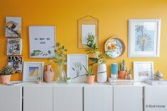 More than proud and excited to share the photo's of the interiordesign I have made for television program Eigen Huis & Tuin. { Sorry for the quality of the photo's which are made wi… Bedroom Wall, Bedroom Decor, Bedroom Ideas, Colorful Apartment, Yellow Interior, Bright Homes, Yellow Walls, Living Room Inspiration, New Room