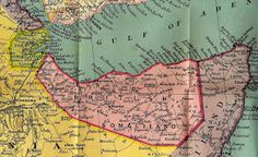 """1912 Scott 58 light blue & black """"George V"""" Quick History The Somaliland Protectorate (British Somaliland) bordered on the Gulf of A. Horn Of Africa, Somali, World History, World War Two, Troops, Geography, City Photo, Outdoor Blanket, Army"""