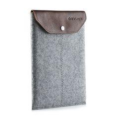 iPad sleeve w/ leather flap grey / Graf & Lantz