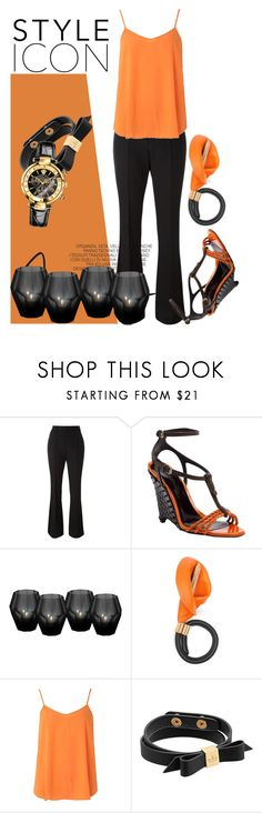 """Orange & Black"" by jez-alex ❤ liked on Polyvore featuring Yves Saint Laurent, Burberry, Eichholtz, Loewe, Dorothy Perkins, Kate Spade, Versace, orangeandblack and colorchallenge"