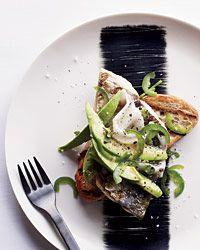 Grilled Mackerel with Lardo, Avocado and Jalapeño on Toast - from ...
