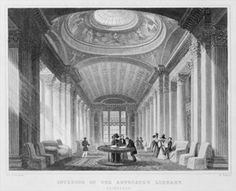 Interior of the Advocate's Library, Edinburgh, engraved by William Watkins, 1831 (engraving) (b/w photo) Wall Art & Canvas Prints by Thomas Hosmer Shepherd