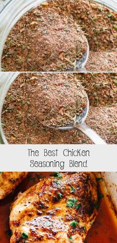 The BEST Chicken Seasoning Blend - My tried and true Chicken Seasoning Blend prepared with everyday pantry spices creates the most delicious chicken dishes. It's the perfect mix that works well with chicken breasts, chicken thighs, and whole chicken. Best Chicken Seasoning, Seasoning Mixes, Chicken Spices, Chicken Recipes, Chicken Rub, Homemade Spices, Homemade Seasonings, Chicken Breasts, Chicken Thighs