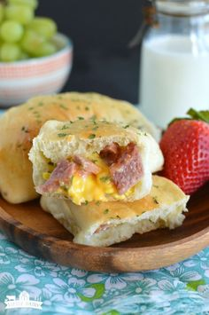 Breakfast Calzones are a hearty on the go breakfast complete with scrambled eggs, ham, and melted cheese all nestled inside an irresistible roll! Breakfast Calzones are one of my family's favorite …
