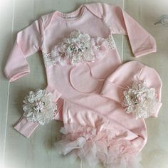 Newborn Girl Coming Home Outfit Newborn Girl Gown Pink Coming Home Outfit Baby Girl Take Home Outfit Newborn Girl Layette Caroline Faith Gifts For Newborn Girl, Baby Outfits Newborn, Baby Girl Newborn, Baby Boy Outfits, Toddler Outfits, Going Home Outfit, Girls Coming Home Outfit, Take Home Outfit, Baby First Outfit