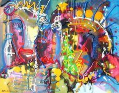 """Oglala Teton Sioux"" Acryl on canvas, 2007 80cm x 100cm  In Henk Klinkhamer gallery"