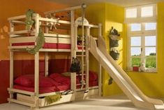 Modern bunk beds vary in styles, featuring wonderful designs with convenient storage spaces and offering very attractive decorating ideas for large and small rooms