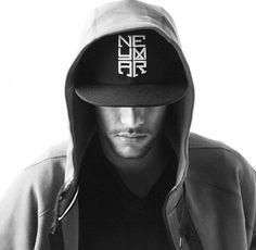 Neymar black and white