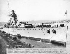HMS Rodney, Devonport Dockyard, 1936.