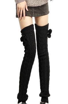 Nouveau produit : Winter Black Crochet Knitted Footless Leg Warmers Boot Socks Thigh Vous aimez ? / New product do you like ?  Prix: 11.90 #new #nouveau #japanattitude #guêtre #kawaii #ecolière #leg #warner #legwarner #gaiter #sock #warms #boot #crochet #knit #black #white #rising #cute #schoolgirl #japanese #leggings