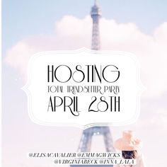 Looking for Host Picks! Tag & Share! ❤️ I'm so excited to announce that I'll be co-hosting my very first posh party with my PFF's Elisa, Emma, & Virginia!   Date: April 28th Time: 10pm EST Theme: Total Trendsetter RSVP: Follow & Comment below for host pick consideration!  I'll be searching for posh compliant closets with beautiful cover shots!  Wow me ladies!   Can't wait to party with you all!   xoxo, Inna  : lesecretaudrey.com Other