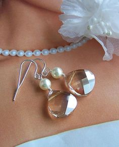 Brides Bridesmaids Earring Gift  Sterling Silver by lecollezione, $35.00