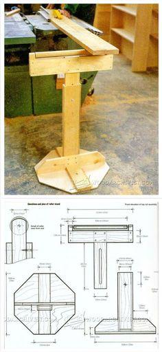 Wooden Roller Stand Plans - Workshop Solutions Plans, Tips and Tricks | WoodArchivist.com