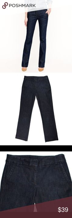 "JCREW City Fit Trouser Jeans in Classic Rinse Wash Excellent condition. These trouser jeans from JCREW feature a zip tab closure. Style is called city fit. Measures: waist: 32"", rise: 9"", hips: 38"", inseam: 32"" J. Crew Jeans"