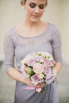 Beautiful soft pink and lilac bouquet by Paula O Hara | onefabday.com