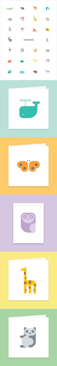 Minimals Paper Goods aka Adorable Animal Icon Designs by Daniel Bennett